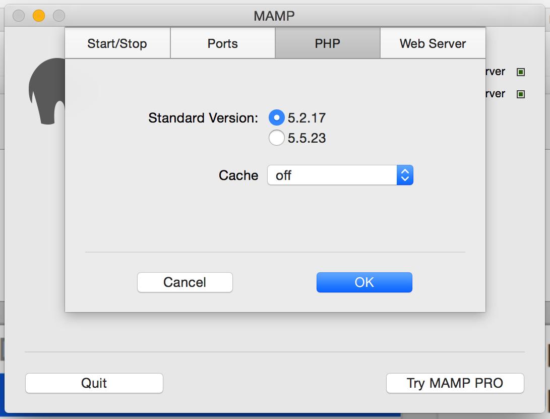 Cài đặt PHP version