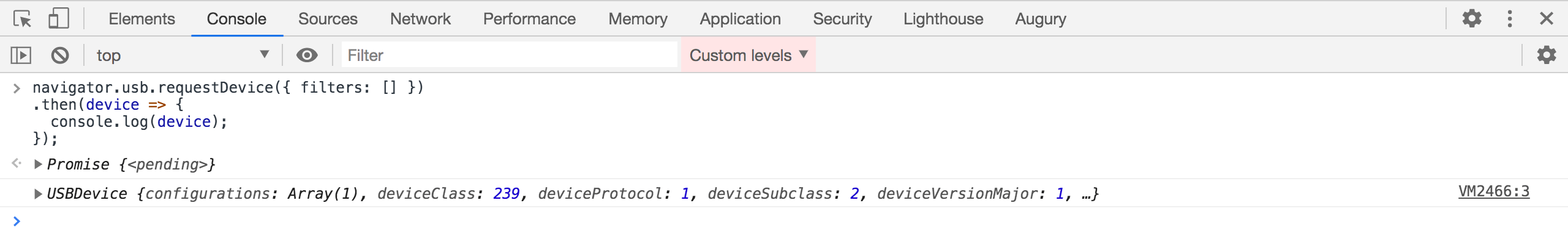 WebUSB API