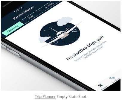 Trip Planner - Empty State Shot