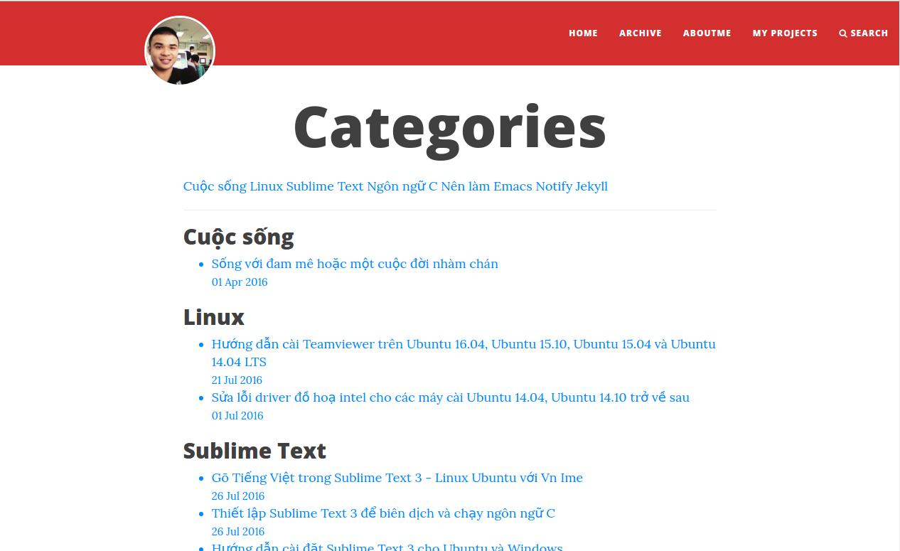 Trang Categories