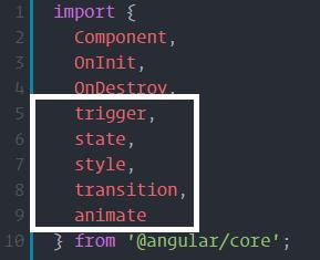 angular 4 animation import
