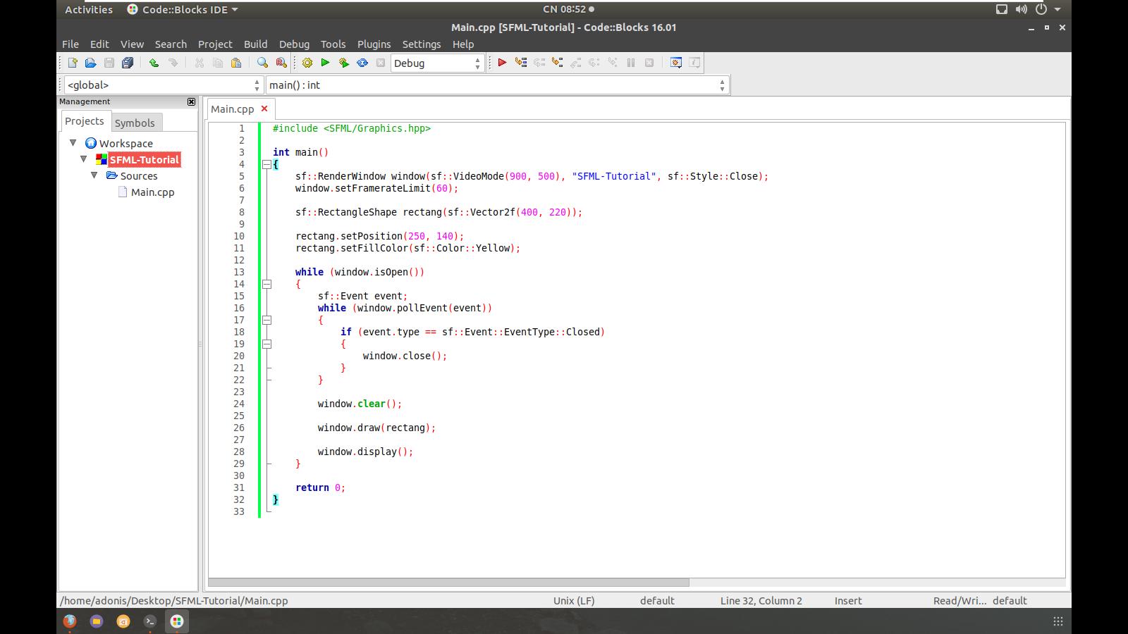 SFML Tutorial - Cài đặt SFML - Ep1 - Phần 3 - Diễn đàn GameDevSpot