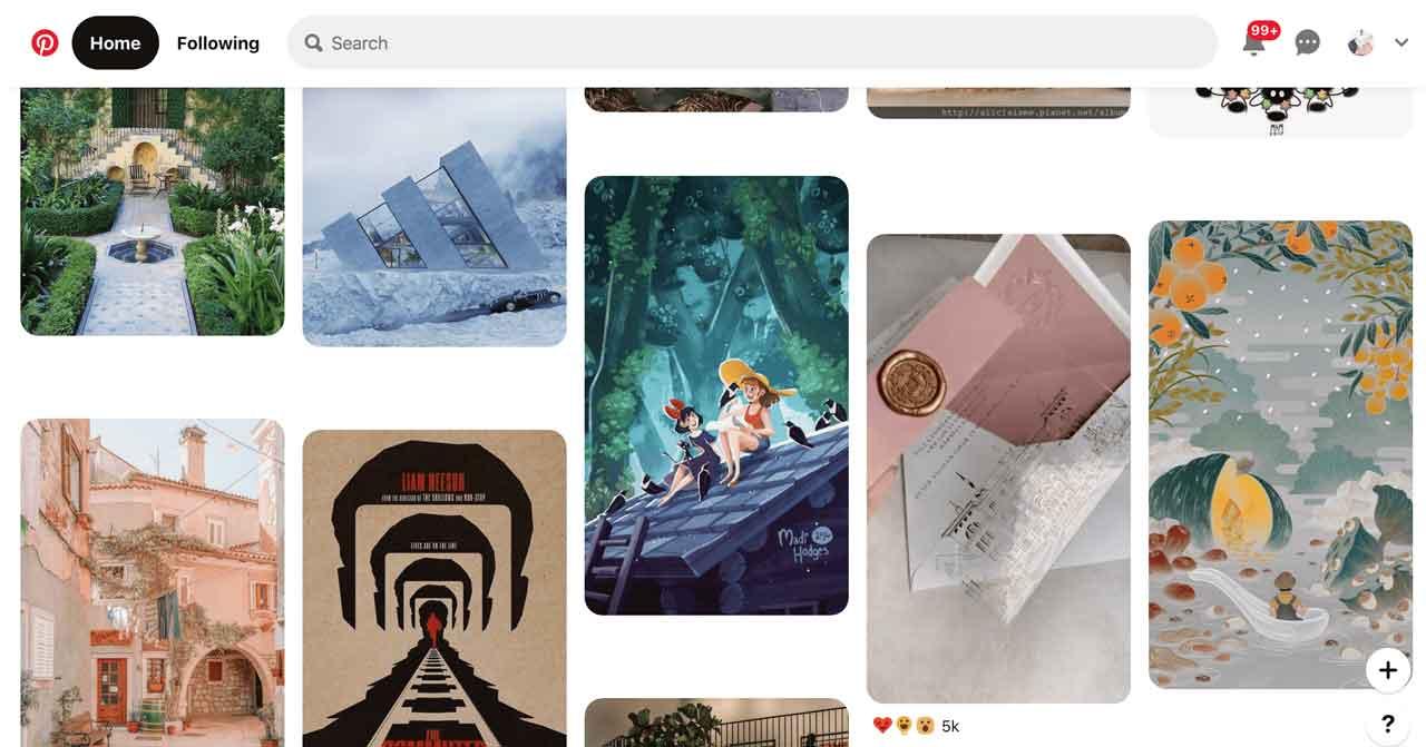 Pinterest Masonry layout