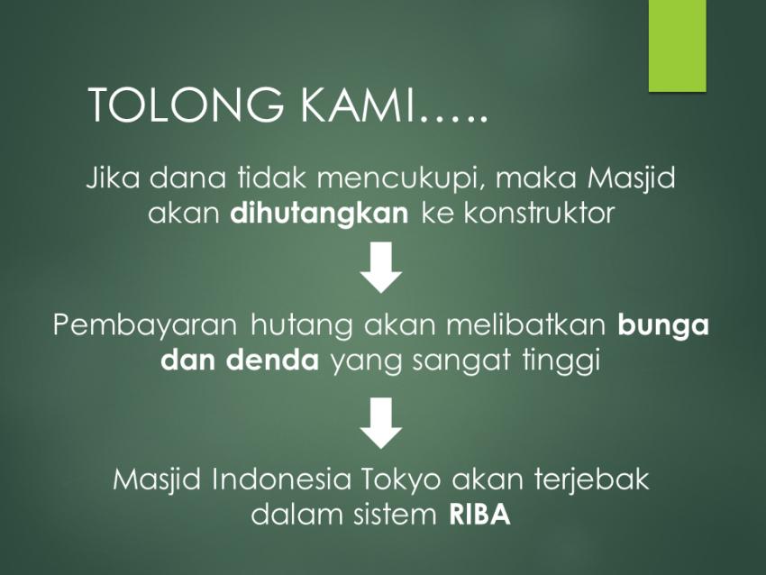Masjid Indonesia di tokyo Butuh Dana