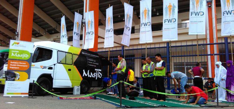 Mobile Masjid si Stadion Si Jalak Harupat