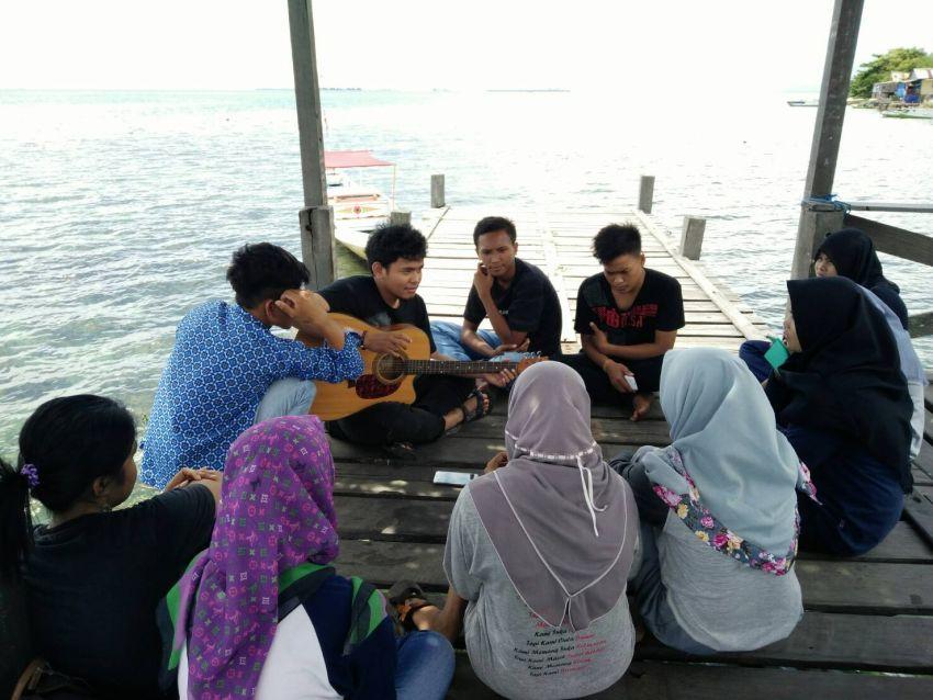 Salah satu sesi workshop musik