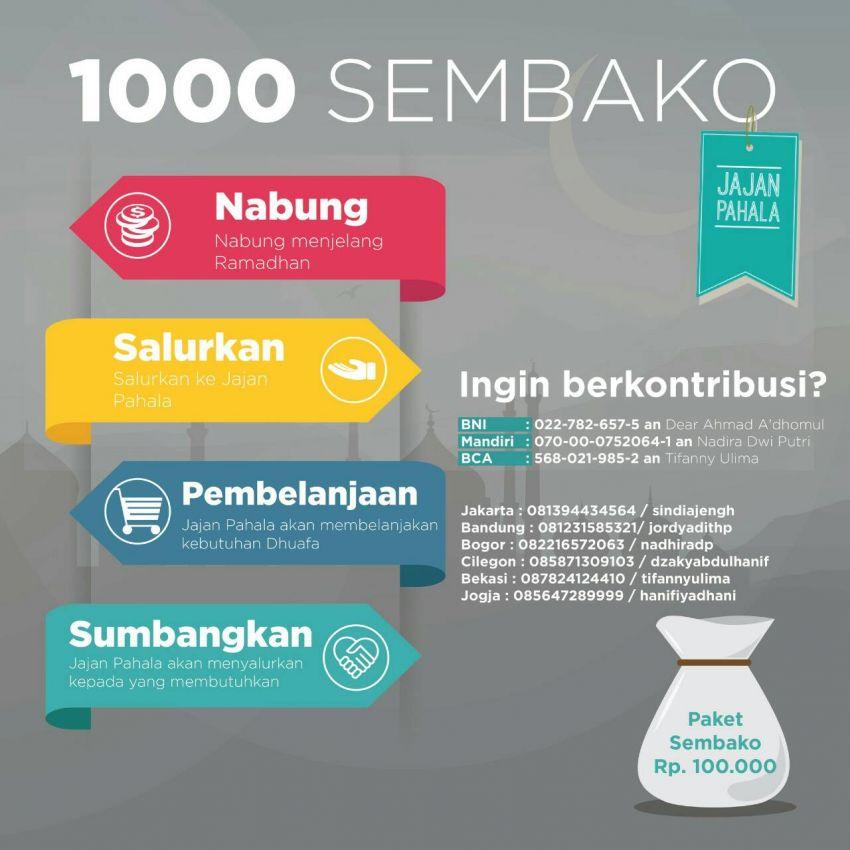 Brosur Kegiatan 1000 Sembako