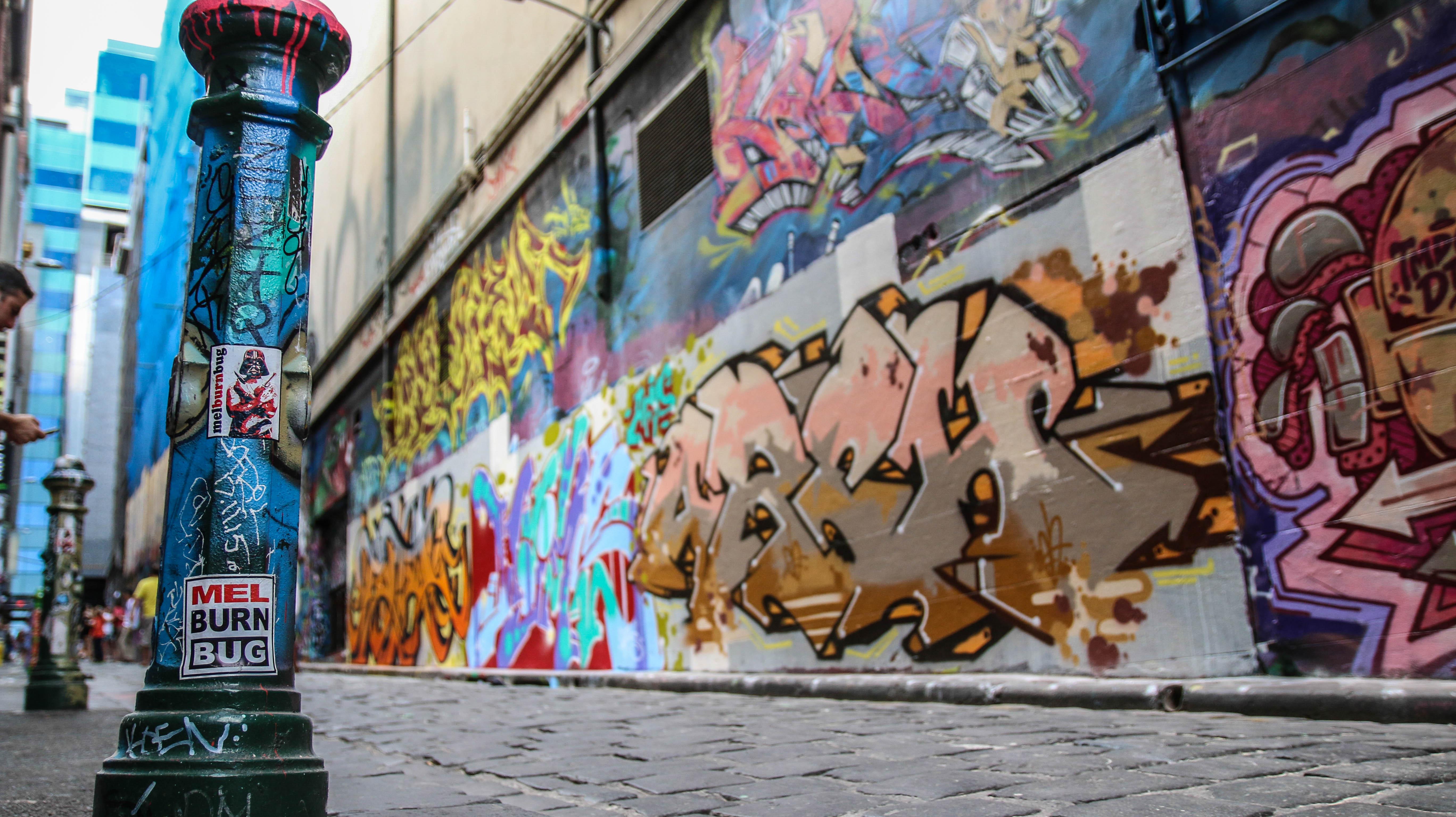 Hosier Lane Graffiti - JamesWatling KiwiPassport.com