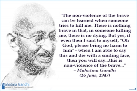 the idea of non violence in gandhis text ahimsa or the way of non violence Mahatma gandhi's philosophy on non-violence - free download as pdf file (pdf), text file (txt) or read online for free this paper demonstrates that the political theory of mahatma gandhi provides us a novel way to understand and arbitrate the conflict among moral projects.