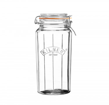 Facetted Clip Top Jar 1.8L