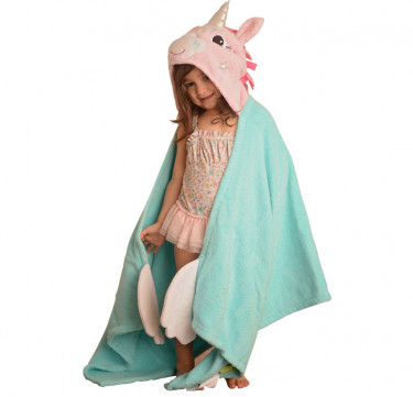 Ali the Unicorn Kids Towel Hoodie