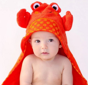 Charlie the Crab Baby Hooded Towel