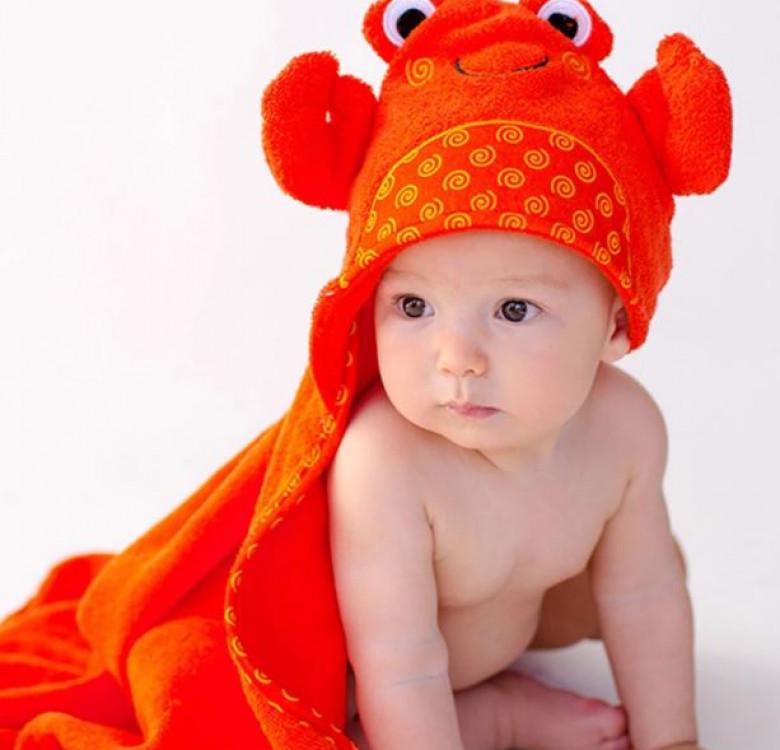 Charlie the Crab Baby Towel Hoodie