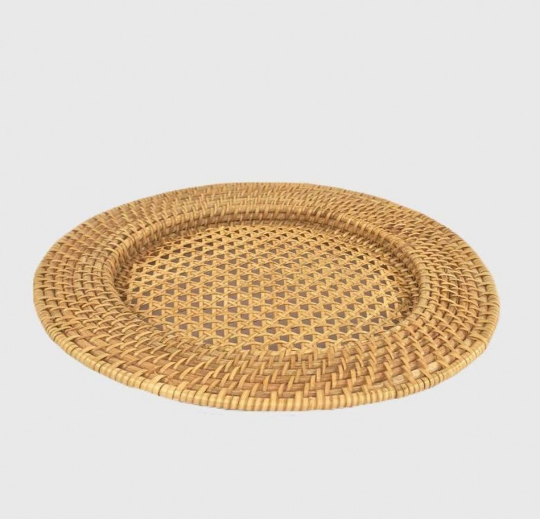 Set of 4 Solihiya Weave Plate Chargers