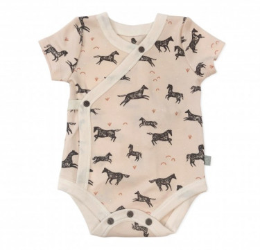 Finn + Emma Wild Horses Collection Short Sleeved Bodysuit