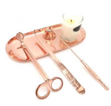 3-Piece Candle Snuffer & Accessory Set