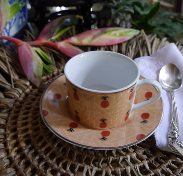 Pineapple Solihiya Teacup & Saucer Set