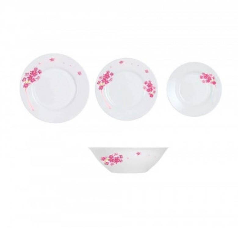 Essence Pink Bloom 19-Piece Dinner Set