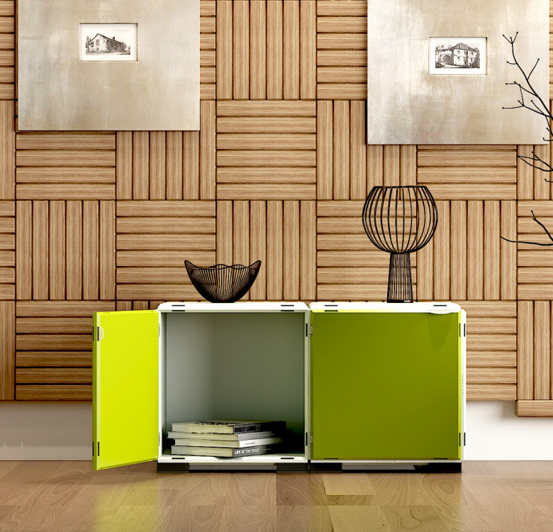 Modular Cabinet Set 11 - Multi-Colored