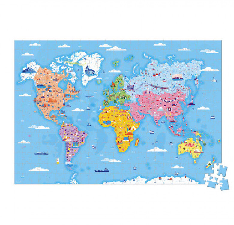Educational Puzzle World Curiosities