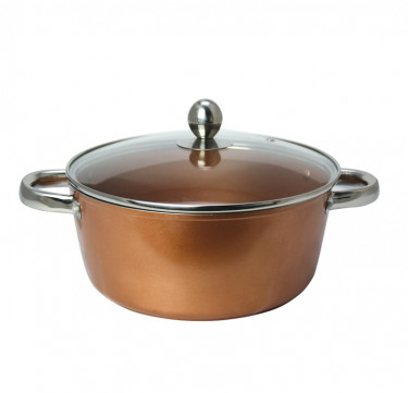 Copper Forged Casserole with Lid