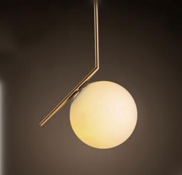 Salvi Golden Frost Pendant Light (Small)