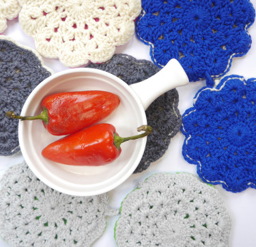 Hand-Crocheted Twin Pot Holders