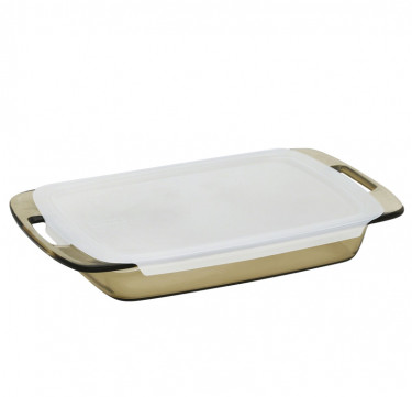 Easy Grab™ Amber 3-qt Oblong Baking Dish with Lid