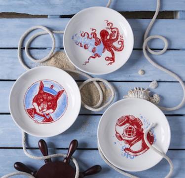 Captain Nemo Dessert Plate Set