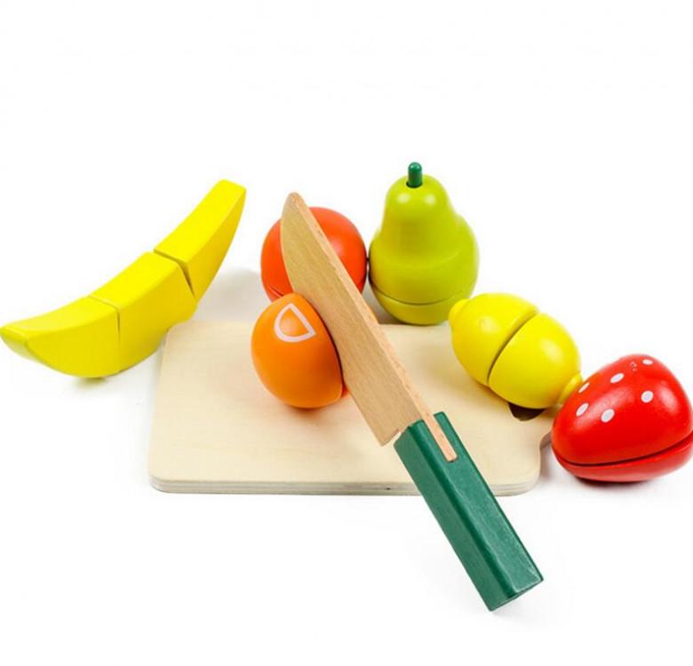 Wooden Fruit & Vegetable Pretend Cutting Set