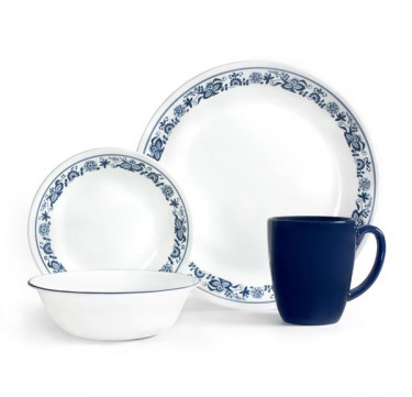 16-Piece Dinnerware Set - Old Town Blue