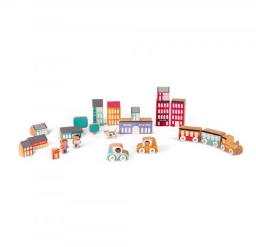Kubix 22 Pieces City (Wood)