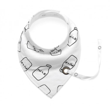 Milk Bib with Pacifier Holder