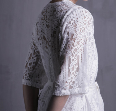 Chrystelle Knee Length Bridal Robe