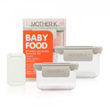 Baby Food Storage Container (Rectangular Set)