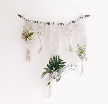 Willow Macrame Plant Hanger