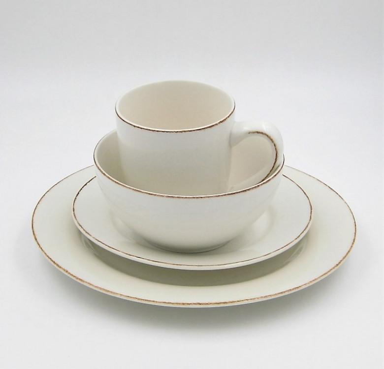 16-Piece Sonoma White Stoneware Dinner Set