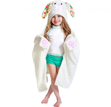 Bella the Bunny Kids Hooded Towel