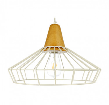 Huck 1 White Modern Pendant Light