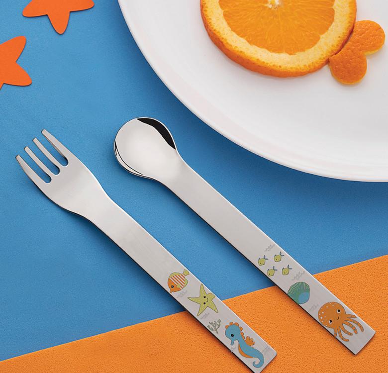Allegria 2-Piece Cutlery Set (Sea Creatures)