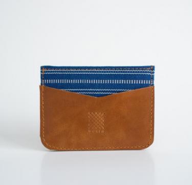 Banaue (Blue) Leather Card Holder