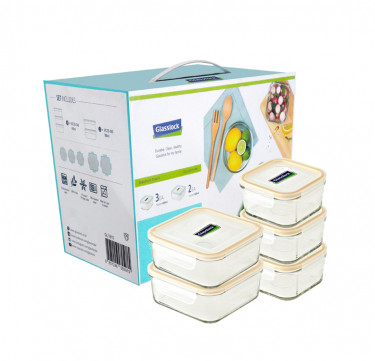 5-Piece Square Type Food Keeper