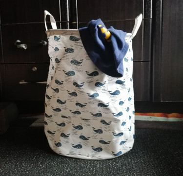 Foldable Storage Bin (Whale)