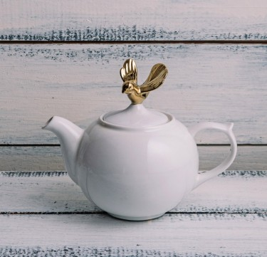 Golden Bird Tea Pot