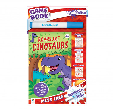 Inkredibles Invisible Ink Game Books Roarsome Dinosaurs
