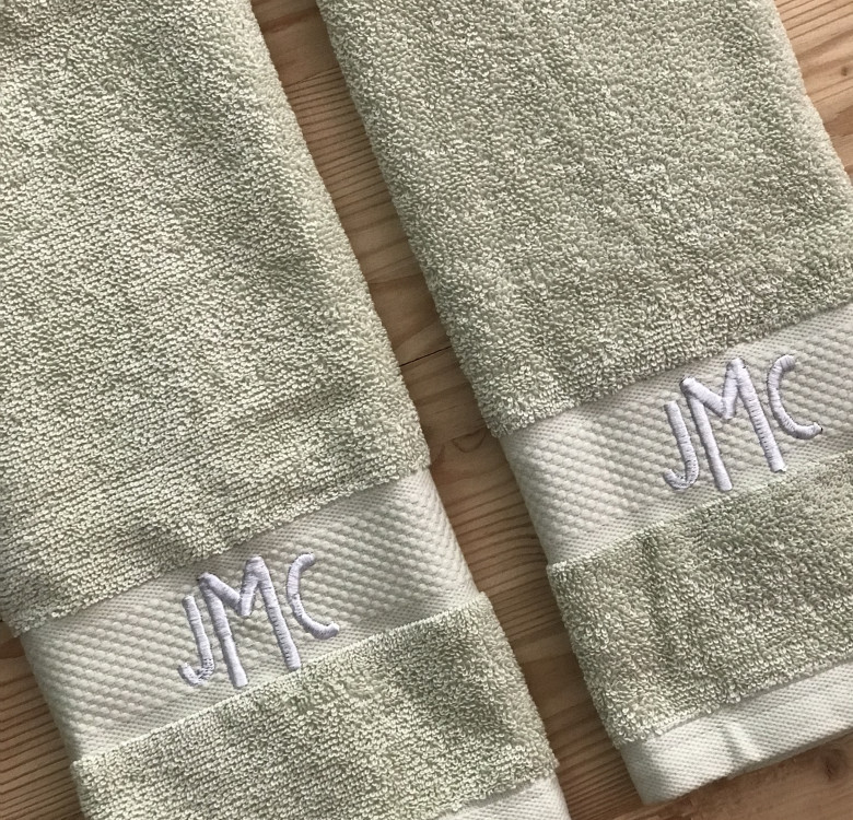 Monogrammed Hand & Face Towels for 2
