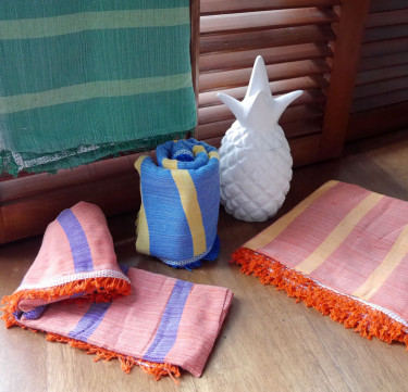 Two-tone Handwoven Inabel Throw