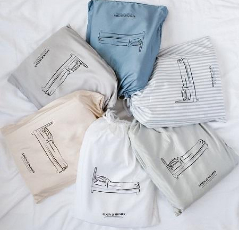 3-Piece Premium Bamboo Luxury Sheet Set (Smoke Stripes)