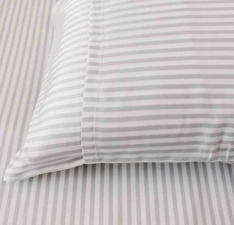 3-Piece Premium Bamboo Luxury Sheet Set (Smoke Stripes)
