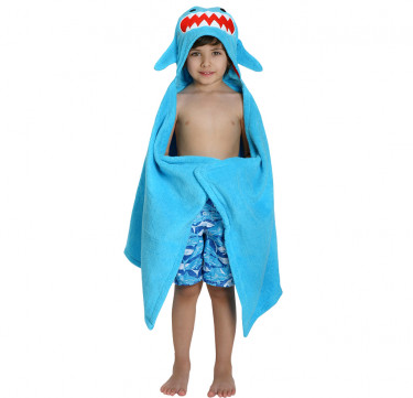 Sherman the Shark Kids Towel Hoodie